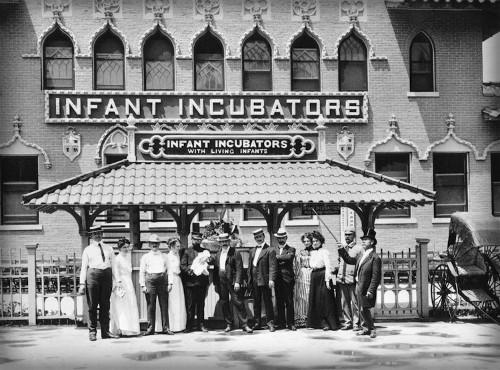 Coney Island Infant Incubators. Image: Library of Congress.