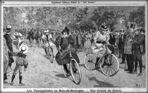 Female Velocipede Racers, Le Petit Parisien Supplement Litteraire Illustre, 1893.