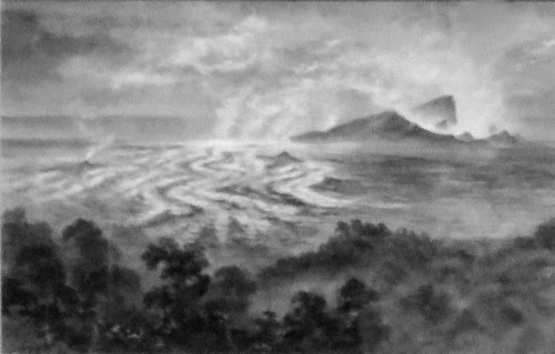 Constance_Gordon-Cumming, Crags Lava Bed, 1879. Image: Wikimedia.