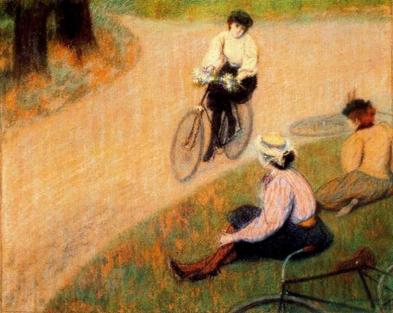 Cycling by Federico Zandomeneghi, 1896. Image: Wikipedia.