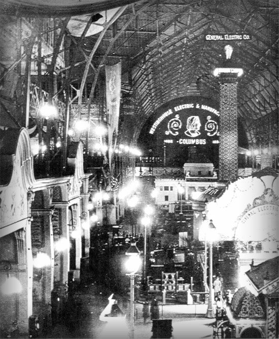Columbian Exposition Electricity 1893, Electricity Building. Image: Library of Congress.