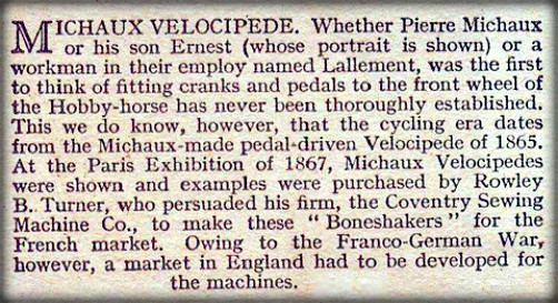 Velocipede, Michaux. Image: oldbike.eu.