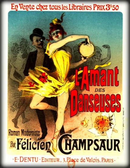 Jules Chéret Style-L´Amant des Danseuses. Image: Wikipedia.
