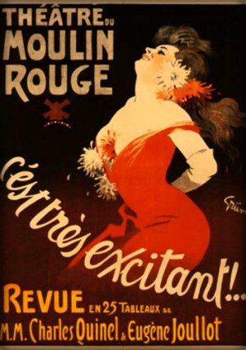 Jules Chéret Cherettes-Theater Moulin Rouge. Image: Wikipedia.
