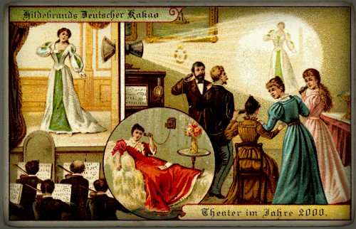 Futuristic Victorian Postcards : Theater of the Future. Image: Wikipedia.