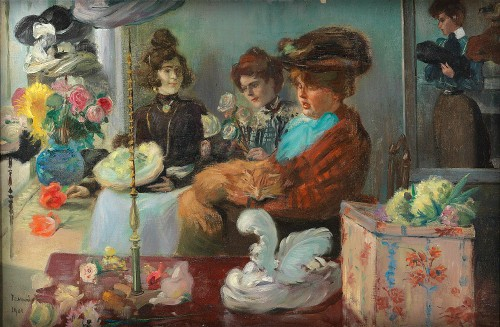 At the Milliner by Pierre-Georges Jeanniot, 1901. Image: Wikipedia.