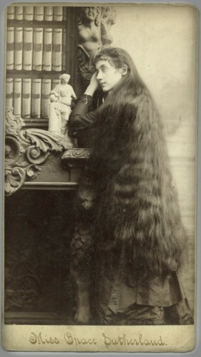 Victorian Cardomania: Miss Grace Sutherland, 1890. Image: Wikipedia.