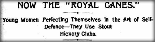 Victorian Cane Defense: New York Herald. Sunday, May 1, 1898. Image: MartialArtsNewYork.org.