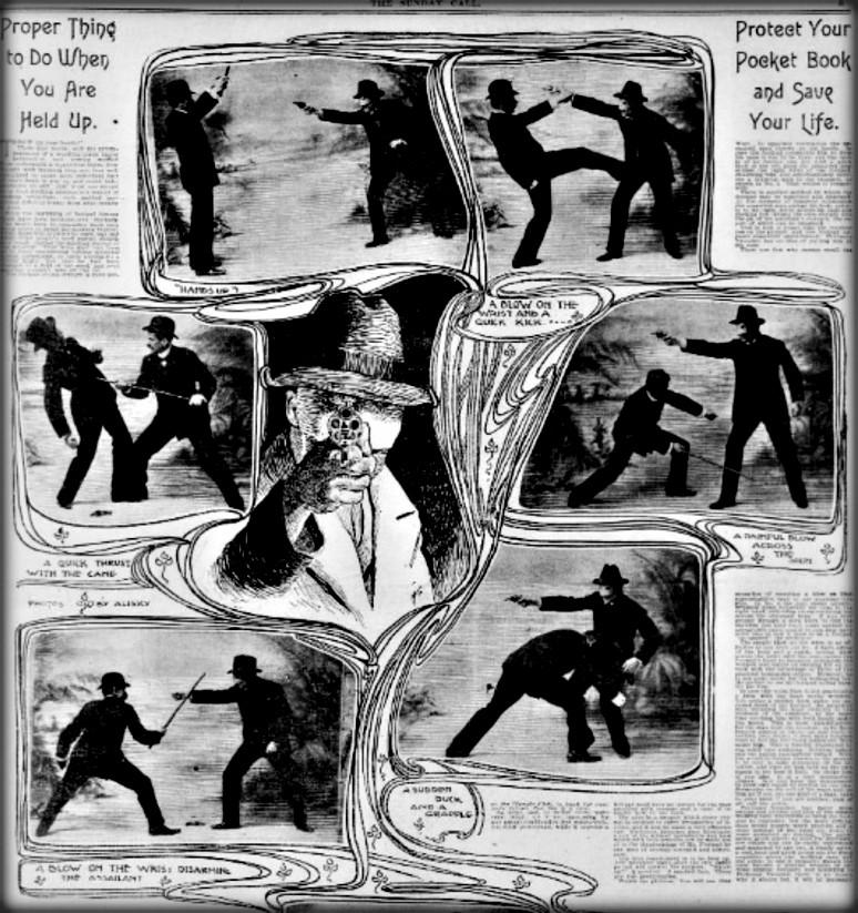 Victorian Umbrella Defense: How To Defend Yourself: San Francisco Call, May 27, 1900.