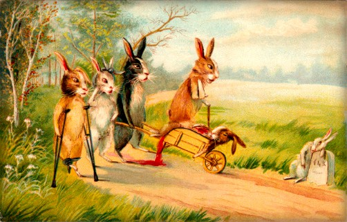 Injured Easter Bunnies, 1910. Image: BBC.com.