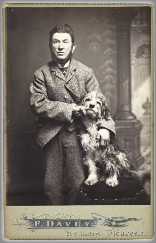 Victorian Cardomania: Man With Dog, 1900. Image: scienceandmediamuseum.org.uk