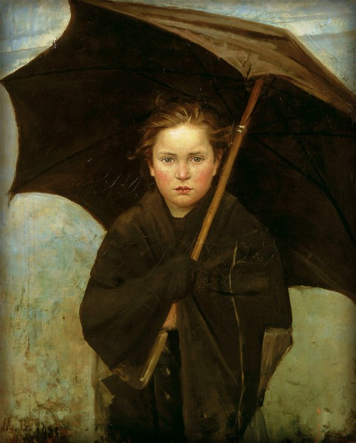 Victorian Umbrella Defense: the Umbrella by Marie Bashkirtseff - 1883. Image: Wikimedia.