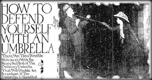 Victorian Umbrella Defense: Chicago Daily Tribune, Oct. 29, 1911.