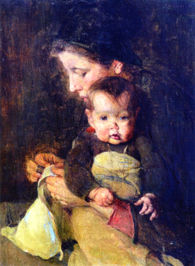 Social Realism, Mother and Baby, 1896. Image: Wikipedia.