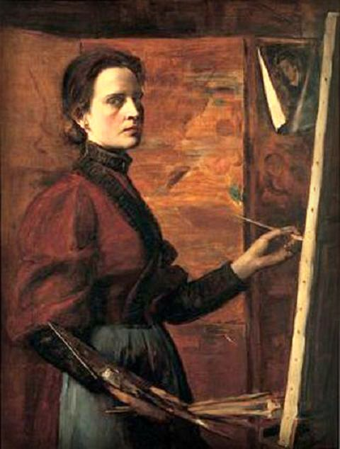 Elisabeth Nourse Self Portrait, 1892. Image: Wikipedia.