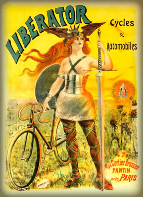 Liberator Bicycle Poster by Jean de Paleologu. Image: Wikipedia.