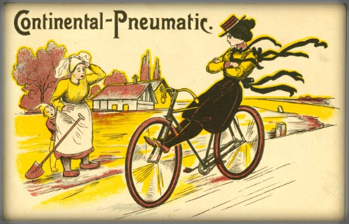 Victorian Bicycle Face. Continental bike Postcard. Image: AntiqueTrader.com.