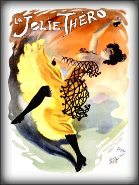 Folies Bergère Poster of La Jolie Thero. Image: Wikipedia.