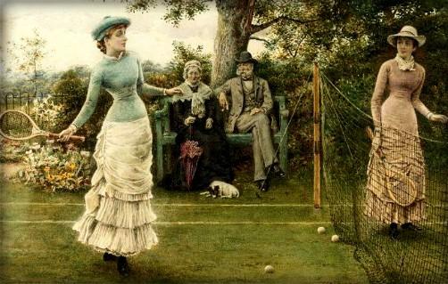 Game of Tennis, 1882 by George Goodwin Kilburne. Image: Wikimedia.