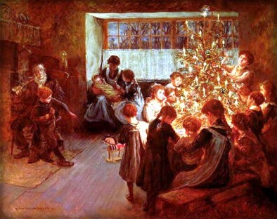 The Christmas Tree, 1911 by Albert Chevallier Tayler. Image: Wikipedia.