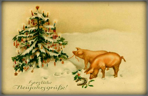 Happy New Year Victorian Card. Image: New York Public Library.