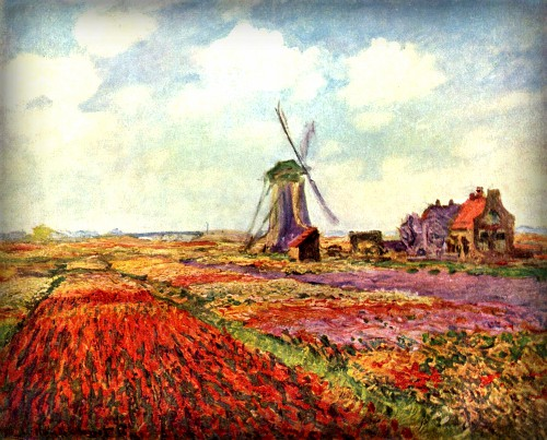 Tulip Fields, 1886 by Claude Monet. Image: Wikipedia.