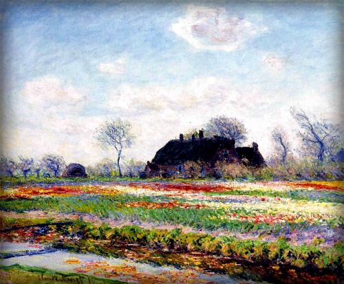 Tulip Fields, 1886 by Claude Monet. Image: Wikipedia.