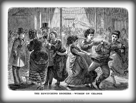 Bewitching Brokers, Harper's Weekly, March 1870. Image: Library of Congress.