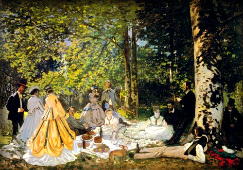 Luncheon On The Grass by Claude Monet, 1865. Image: Wikipedia.