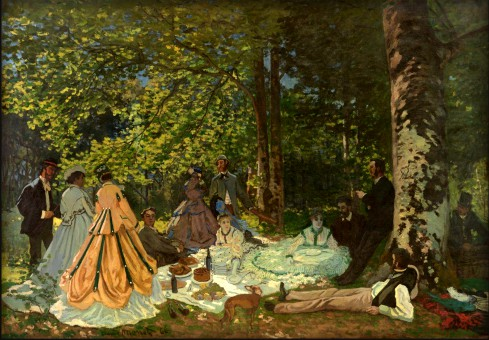 Luncheon On The Grass by Claude Monet, 1865. Pushkin Museum. Image: Wikipedia.