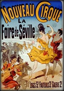 Nouveau Cirque Poster by Jules Cheret. Image Wikipedia.