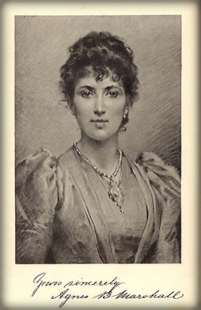 Agnes B. Marshall. Image: Wikipedia.