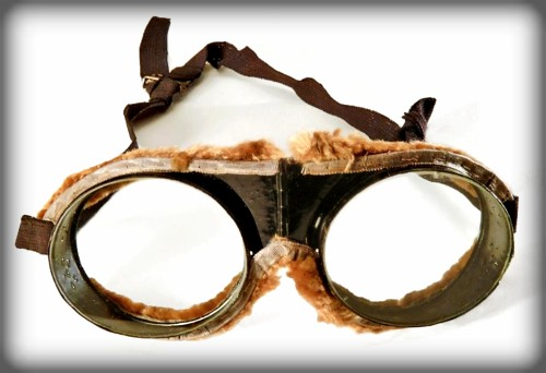 Worn leather goggles From 1903.