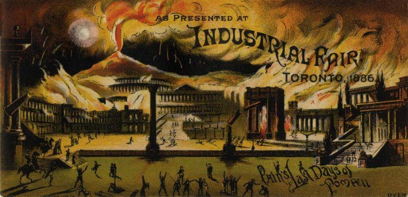 Siege of Pompeii, 1886. Image: CNE Heritage.com.