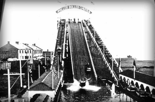 Chutes Roller Coaster, 1900-1910. Image: Toronto Public Library.