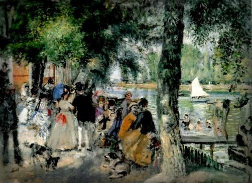 August Renoir, La Grenouillère, 1869, Image: Athenaeum.org.