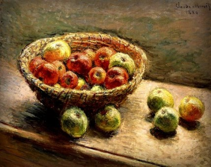 Basket of Apples by Claude Monet. Image: the-athenaeum.org.