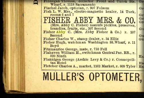 San Francisco Business Listing, 1880. Image: Library of Congress.