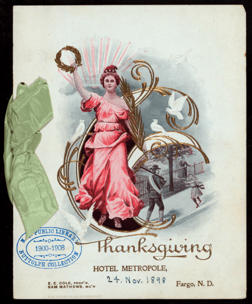 Hotel Metropole, Thanksgiving 1898. Image: New York Public Library.
