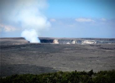 Kilauea Volcano View From Volcano House Hotel, 2009. Image:W Nowicki; Wikipedia.