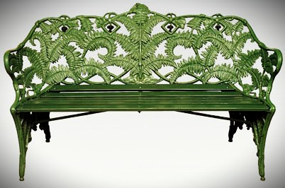 Coalbrookdale cast-iron garden seat c.1875 (courtesy Shrewsbury Museums Service; Peter Boyd.