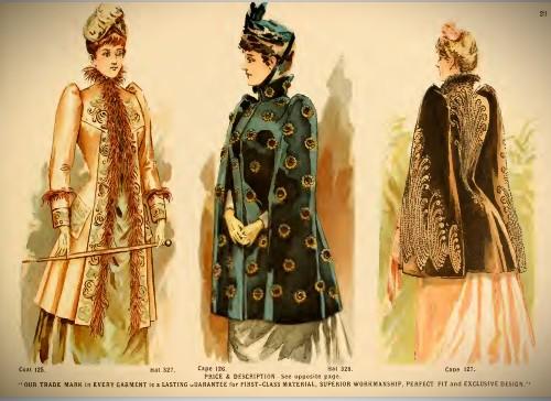 Deutsch & Company Formal Capes, 1891. Image: Original Catalogue-Archive.org.