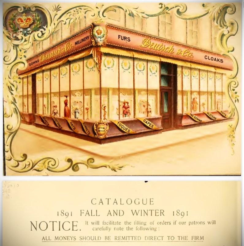 Deutsch & Company Furs and Cloaks Winter Catalogue, 1891. Image: Original Catalogue-Archive.org.