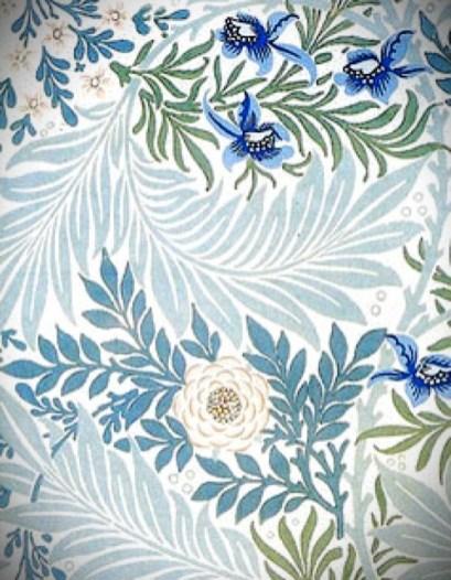 William Morris Wallpaper-Larkspur. Image: Victoriana Magazine.