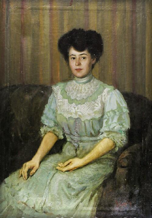Portrait of P. Tchaokovskaia by Valentin Serov, 1890-92. Image: Wikipedia.