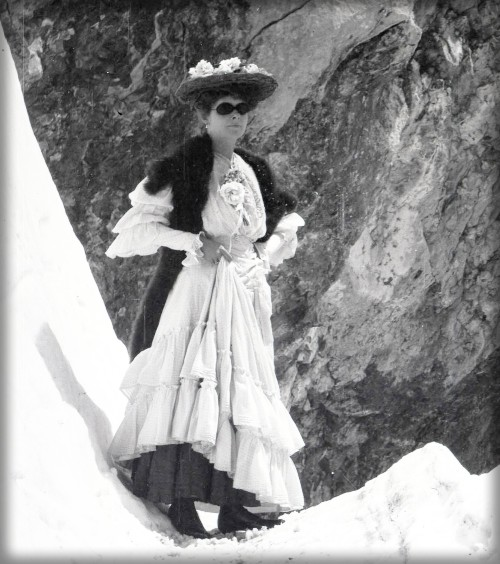 Female Mountaineer Possibly In Alps, c. late 1800s. Image: American Alpine Club.org.