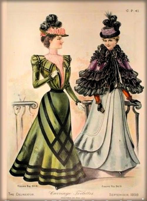 Fashion Illustration, c. 1890s. Image: Claremont College Digital Collection.