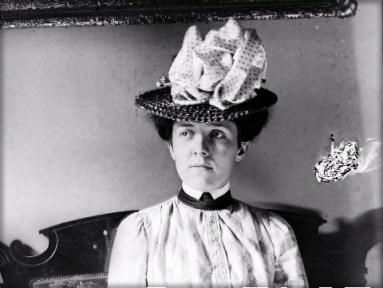 Woman In Stylish Hat, c. 1890. Image: Gordon Morales, Flikr.