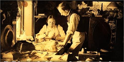 Clara Dricsoll with Joseph Briggs, 1901. Image: Metropolitan Museum of Art/Wikipedia.