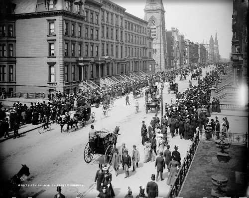 Fifth Ave. New York, Easter Parade, 1900. Image: Library of Congress.